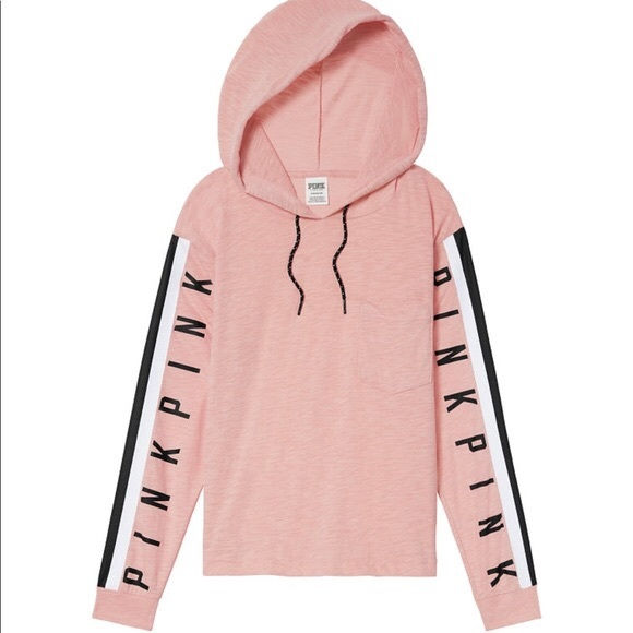 PINK Victoria's Secret Tops - New Victoria's Secret pink hoodie tee